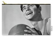 1950s Smiling Boy Holding Basketball Carry-all Pouch