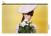 1960s Glamour Woman In White Turn Carry-all Pouch