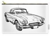 1962 Chevrolet Corvette Illustration Carry-all Pouch