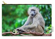 A Baboon In African Bush Carry-all Pouch