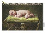 A Baby Asleep On A Pillar Carry-all Pouch
