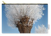 A Frosted Willow On A Very Cold And Bright Winter Day Carry-all Pouch