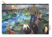 A Man And His Dogs Carry-all Pouch