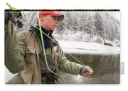 A Man Fly Fishing On The Cache La Carry-all Pouch