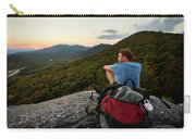 A Man Hikes Along The Appalachian Trail Carry-all Pouch