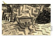 1 A Maze Ing Man Sepia Carry-all Pouch
