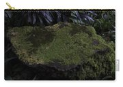 A Moss Covered Stone Inside The National Orchid Garden In Singapore Carry-all Pouch