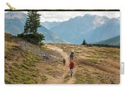 A Mother And Daughter Mountain Biking Carry-all Pouch