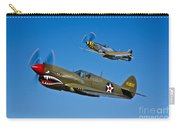 A P-40e Warhawk And A P-51d Mustang Carry-all Pouch