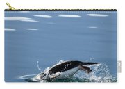 A Penguin Swims Through The Clear Carry-all Pouch