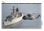 A Royal Navy Merlin Helicopter Passes Over Hms Cumberland Carry-all Pouch