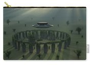 A Ufo & Its Alien Crew Visiting Carry-all Pouch
