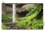 A Woman Admires Latourel Falls On June Carry-all Pouch