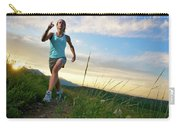 A Woman Trail Running Near Boulder, Co Carry-all Pouch
