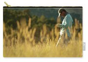 A Young Man Fly-fishing At Sunset Carry-all Pouch