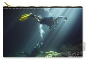 A Young Married Couple Scuba Diving Carry-all Pouch by Michael Wood