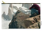 A Young Woman Gazes At Cerro Fitzroy Carry-all Pouch