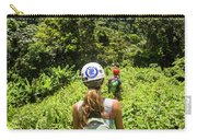 A Young Woman Hikes Through The Jungles Carry-all Pouch