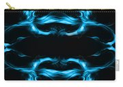 Abstract In Blue Carry-all Pouch
