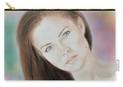 Actress And Model Susan Ward Blue Eyed Beauty With A Mole Carry-all Pouch