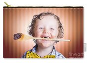 Adorable Little Boy Cooking Chocolate Easter Cake Carry-all Pouch