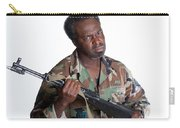 African American Man With Gun Carry-all Pouch