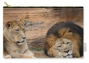 African Lion Couple 3 Carry-all Pouch