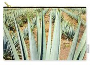 Agave Cactus Field In Mexico Carry-all Pouch by Elena Elisseeva