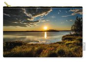 Alaskan Midnight Sun Over The Lake Carry-all Pouch