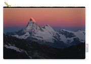 Alpenglow On The Matterhorn And Dent Carry-all Pouch