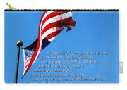 America The Beautiful - Us Flag By Sharon Cummings Song Lyrics Carry-all Pouch