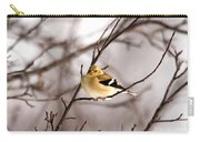 American Goldfinch In Winter Carry-all Pouch