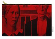 American Gothic In Red Carry-all Pouch