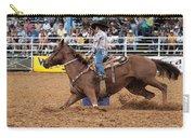 American Rodeo Female Barrel Racer White Blaze Chestnut Horse II Carry-all Pouch by Sally Rockefeller