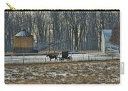 Amish Buggy And Corn Crib Carry-all Pouch