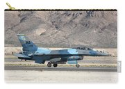 An F-16c Aggressor Jet Landing Carry-all Pouch