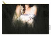 Angel Sitting In The Darkness Carry-all Pouch