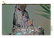 Annas Hummingbird Feeding Young Carry-all Pouch
