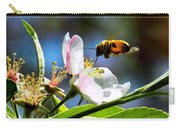 Apple Blossom And Honey Bee Carry-all Pouch