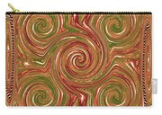 Artistic Embossed Twirl Decoration Chakra Style Unique Signature Navinjoshi Artist Created Images Te Carry-all Pouch