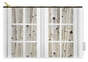 Aspen Forest White Picture Window Frame View Carry-all Pouch