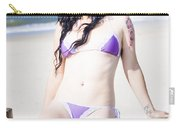Attractive Girl On The Beach Carry-all Pouch
