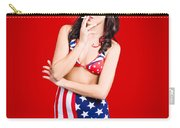 Attractive Usa Pinup Woman Smoking Carry-all Pouch