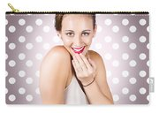 Attractive Young Retro Girl With Look Of Surprise Carry-all Pouch