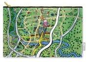 Austin Texas Cartoon Map Carry-all Pouch