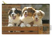Australian Sheepdog Puppies Carry-all Pouch