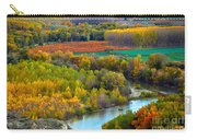 Autumn Colors On The Ebro River Carry-all Pouch by RicardMN Photography