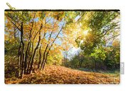 Autumn Fall Landscape In Forest Carry-all Pouch