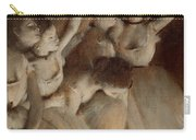 Ballet Rehearsal On Stage Carry-all Pouch by Edgar Degas