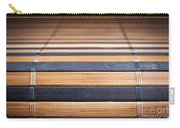 Bamboo Mat Texture Carry-all Pouch